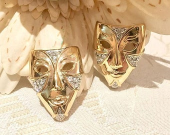 Authentic VINTAGE - Carnival Theatre mask earrings