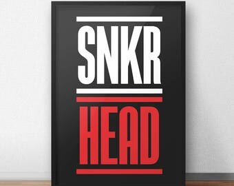 Sneaker Posters, Sneaker Art, Wall Art, Posters, Prints, Poster Gift, Home Decor, Wall Decor, Art, Sneaker Head, Sneaker, Sneaker Head Gifts