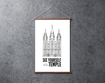 LDS Salt Lake Temple Print & Quote | Poster 24x36 | Digital Print | Instant Download | See Yourself in the Temple