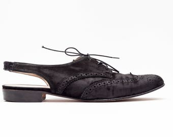 Salvatore Ferragamo • Vintage Shoes • LaceUp Oxfords Mules • Flat Oxford Sling backs • Modern Vintage • Made in Italy • Size 8.5