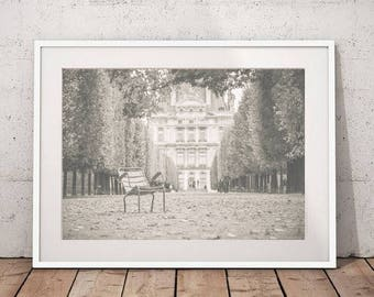 Paris Photography, Paris print, Tuileries photography France art print, french decor, Europe photo, large wall art, printable art