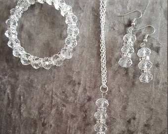 Glass beaded jewellery set