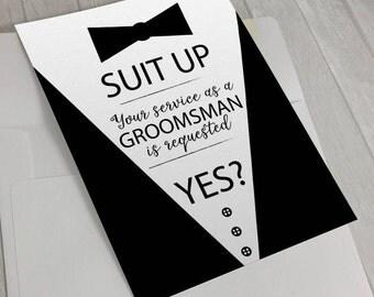Groomsmen Invite, Groomsman Invite, Digital Download, Best Man Invite, Best Men Invite, Bestman, Bestmen, Invite, Grooms man, Grooms men
