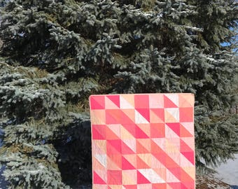 custom modern quilt | triangle patchwork quilt | modern baby quilt | modern throw quilt | half-square triangle quilt