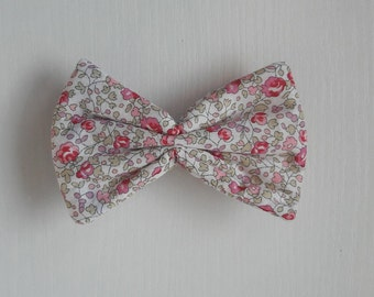 Hair clip bow tie liberty eloise pink