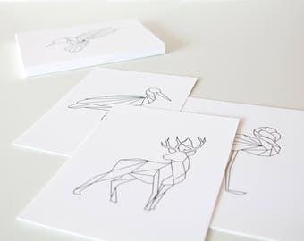Graphic animal prints - 20x30cm
