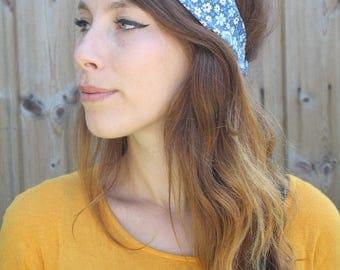 Headband Twisted organic cotton liberty