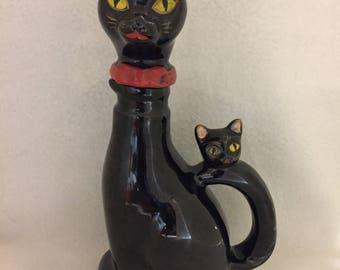 Black Cat Decanter (#038)