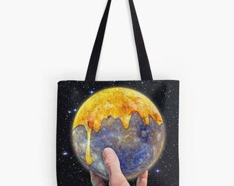 Jupiter Tote, Jupiter Bag, Jupiter Purse, Planet Tote, Planet Bag, Planet Purse, Shopping Bag, Book Bag, Recycle Bag