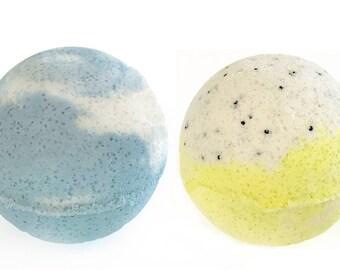 1 Blueberry and 1 Lemon Poppy Seed Bath Bomb