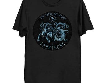 Lovecraftian Zodiac - Shub-Niggurath Capricorn Shirt, Star Sign Tee, Astrology Shirt, Cthulhu Mythos T-Shirt