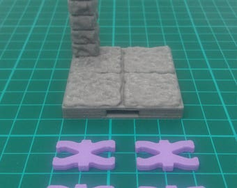 DragonLock Ultimate -  Dungeon Pillar tile. 3D Printed | RPG | Dungeons and Dragons | DnD | Dragonlock | 28mm | Pathfinder | 3D Terrain