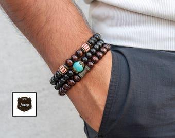 Bracelet homme set, Tribal bracelet, Men African bracelet, Men Bracelet, Men Tribal Bracelet, Men Tribal bracelet set, Hipster bracelet set