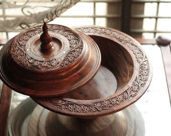 Wooden Centerpiece Decorative Bowl