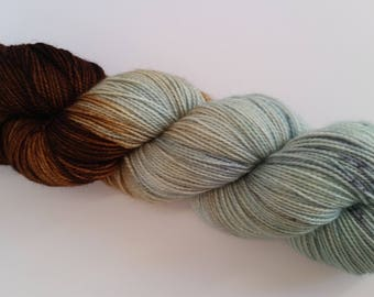 DYED TO ORDER - Chocolate Mint - Cool down with cool mint! - Cool creamy mint green is dipped in rich chocolate brown