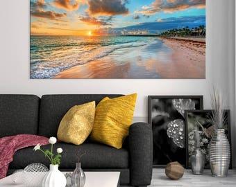 Sea And Beach Wall Art Large Canvas Print, Large Wall Art, Wall Art Canvas Part 50