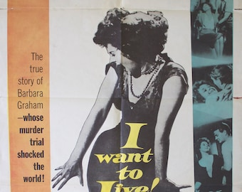 "Movie poster ""I want to live!""-Original"