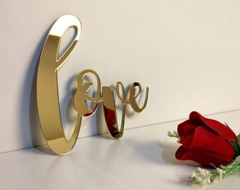 Love Sign, Love Wall Decor, Love Wall Hanging, Love Home Decor, Acrylic