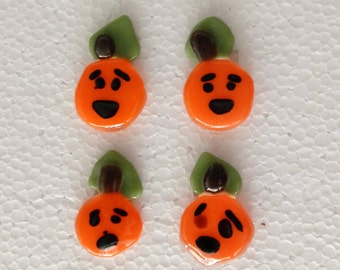 Small Fused Glass Pumpkins
