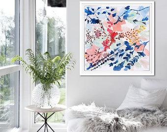 Abstract Painting, Original Canvas Print of Painting, Giclee, Fine Art Print on Canvas, Abstract Wall Art, Modern Art Wall Decor