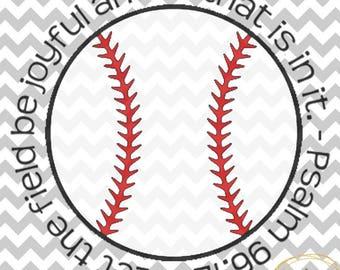 Baseball Psalm 96:12 SVG