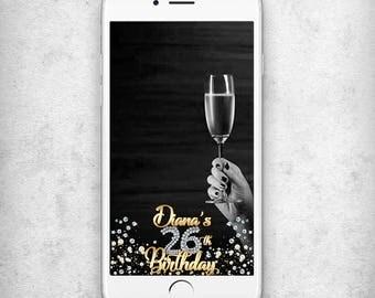 CUSTOM Birthday filter snapchat 26th birthday snapchat geofilter 26th birthday geotag Geofilter Birthday snapchat Diamonds geofilter
