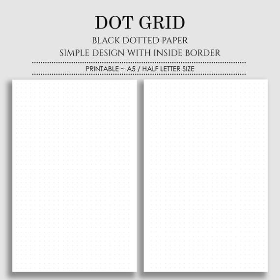 photo regarding A5 Dot Grid Printable known as Dot Grid A5 coloring range