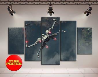 X-wing art, Star Wars print, X-wing print, Star wars, X-wing poster, Star wars Spaceship, Kids room print, Star wars wall art, Kids room art