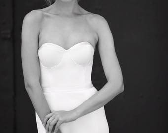 Strapless wedding dress, Simple wedding dress, wedding dress, ivory wedding dress, silk wedding dress, affordable wedding dress