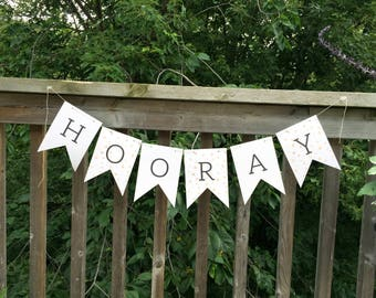 Hooray - Bunting Banner - Garland - Party Banner - Party Decoration