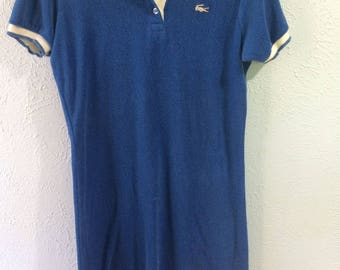 Blue Lacoste Vintage 70s Terrycloth Tennis Dress