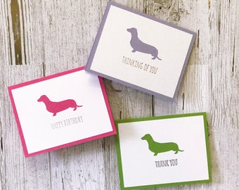 Dachshund Card   Dog Card   Doxie Card   Birthday, Thank You, Congratulations, Get Well Soon, Thinking of You