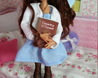 Beauty and the beast repainted OOKA ever after high doll