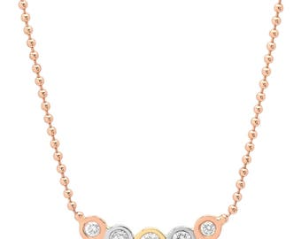 ESTE Tri-color Diamond Necklace