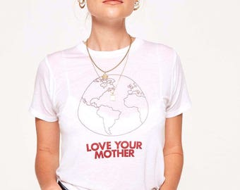 Love Your Mother Earth T-Shirt - brandy melville inspired
