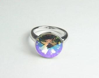 Ring with Swarovski crystal Swarovski crystal ring Swarovski ring Crystal ring Swarovski element