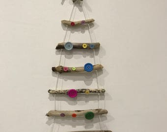 Driftwood Ladder Christmas Tree Hanging