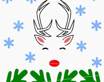 Raindeer svg Christmas svg Deer svg Snowflake svg winter svg files for Cricut Silhouette dxf holiday svg new year svg merry christmas svg
