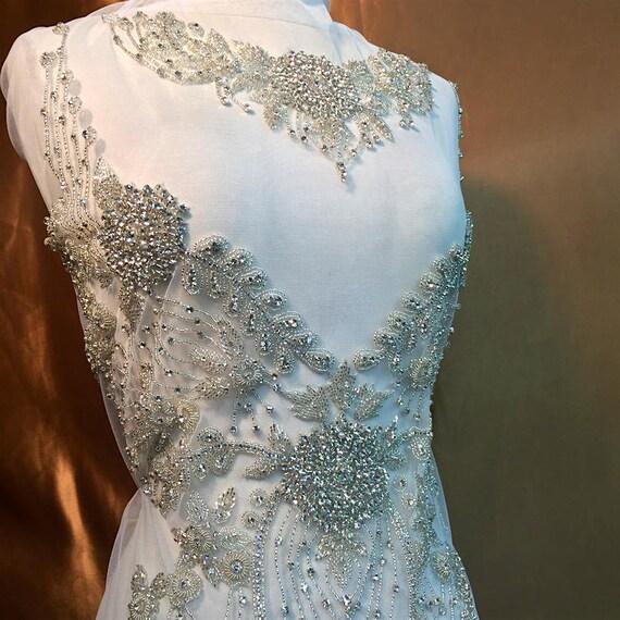 Amber scholl diy designer full body rhinestone applique for Full body wedding dress