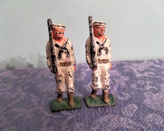 WWII Toy Lead Soldiers. Navy