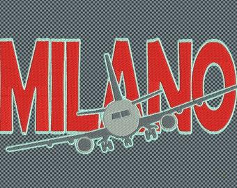 Embroidery Milan Plane