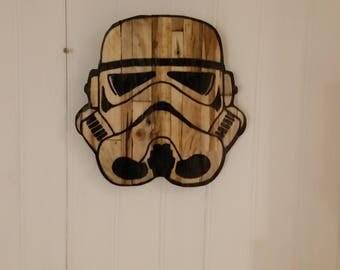 Decorative Star wars (clone helmet) wooden