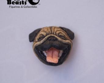 Pug Dog-Funny Animal Face Magnets