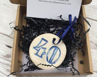 40th Birthday Gift Keepsake