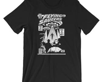 Comic Book Series: Flying Saucers UFO Short-Sleeve Unisex T-Shirt