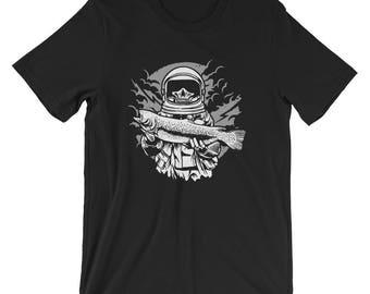 Fisher Astronaut Fishing Bass Short-Sleeve Unisex T-Shirt