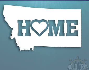 Montana Decal - PICK COLOR and SIZE - Montana Home Decal - Mt Decal - Montana Car Decal - Montana sticker - Montana car sticker