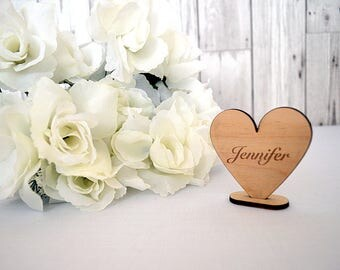 Wedding Heart Name Places - Wedding Table Decor