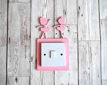 Ballerina Light Switch Surround, Girls Room, Nursery Decor, Baby Room, Home Decor