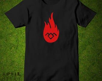 Twin Peaks Shirt Science Fiction T-shirt black lodge fire walk Men Women Unisex Tee shirt